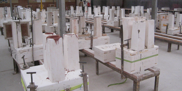 Studio environment following degree of automated mould making