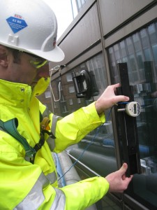 On site roller wave review of installed glass can have its limitations, particularly with shadow box glazing