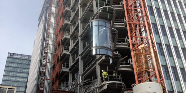 1 New Street Square curved unit installation